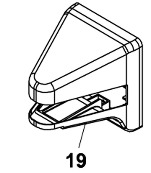 Gehäuse für Antriebshalterung hinten (S450H)