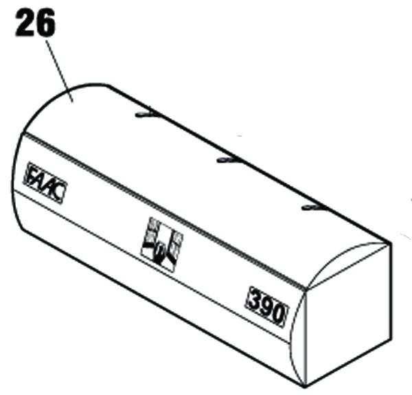 Antriebsabdeckung FAAC 390