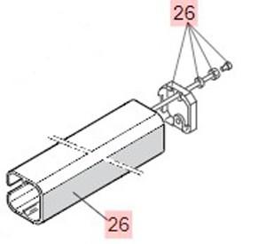 Kolbenabdeckung incl. Deckel FAAC 400