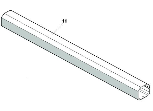 Kolbenrohrabdeckung FAAC 412 SX/DX