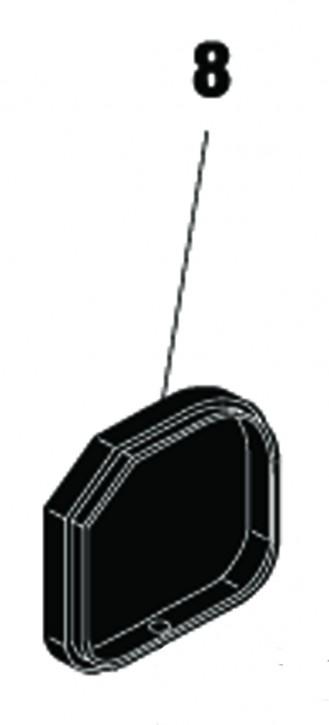 Endkappe für Kolbenabdeckung 412 DX