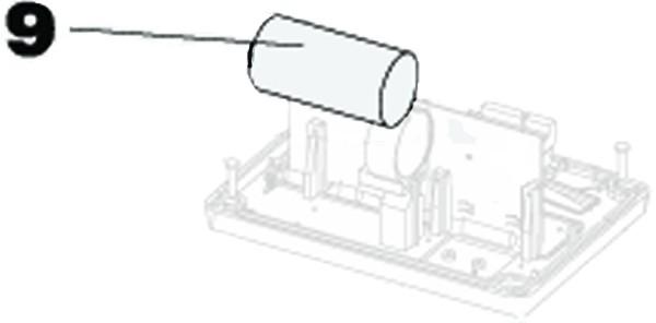 Kondensator 25µf 400V steckbar