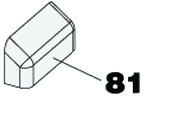 Abdeckung für Montagewinkel FAAC 746/844