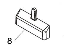 Befestigungsabdeckung FAAC 740 (2 Stück)