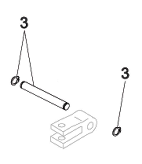 Befestigungsbolzen mit Seegerringe für FAAC 413/415/418