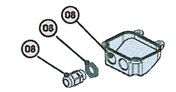 Kabelanschlussgehäuse für FAAC 409/411/413/415