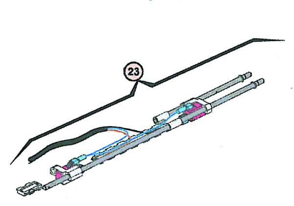 Baugruppe Endschalter Länge 400 mm für FAAC 409