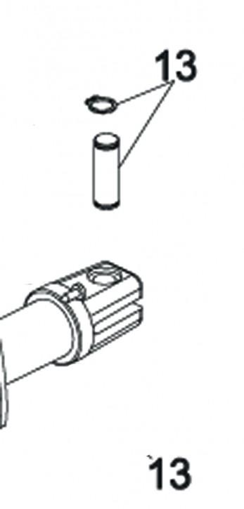 Befestigungsbolzen mit Seegerring für FAAC 415
