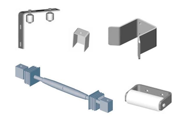 Zubehör-Set 2 (zum Bau eines freitragenden Schiebetores bis 6.000 mm)