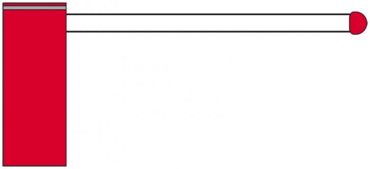 Schrankenbalken oval 5,0 m Sperrbreite