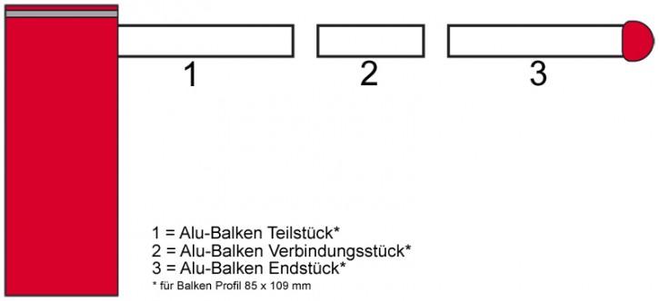 Alu-Balklen Teilstück oval 4,0 mtr.